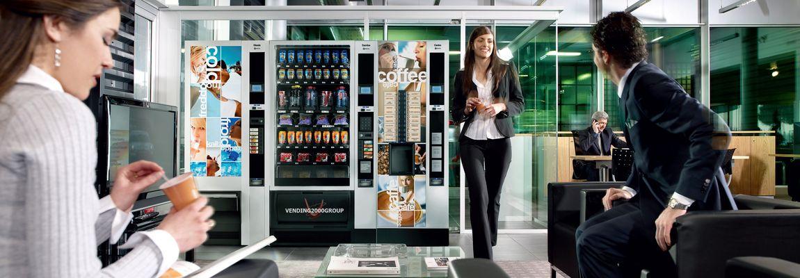 Con Vending 2000 puoi concederti in ogni momento alimenti freschi e confezionati, bevande, prodotti parafarmaceutici e gelati