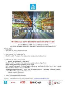 """Evento """"Microfinanza"""" 08/02/2019 - Microfinanza come strumento di inclusione sociale"""