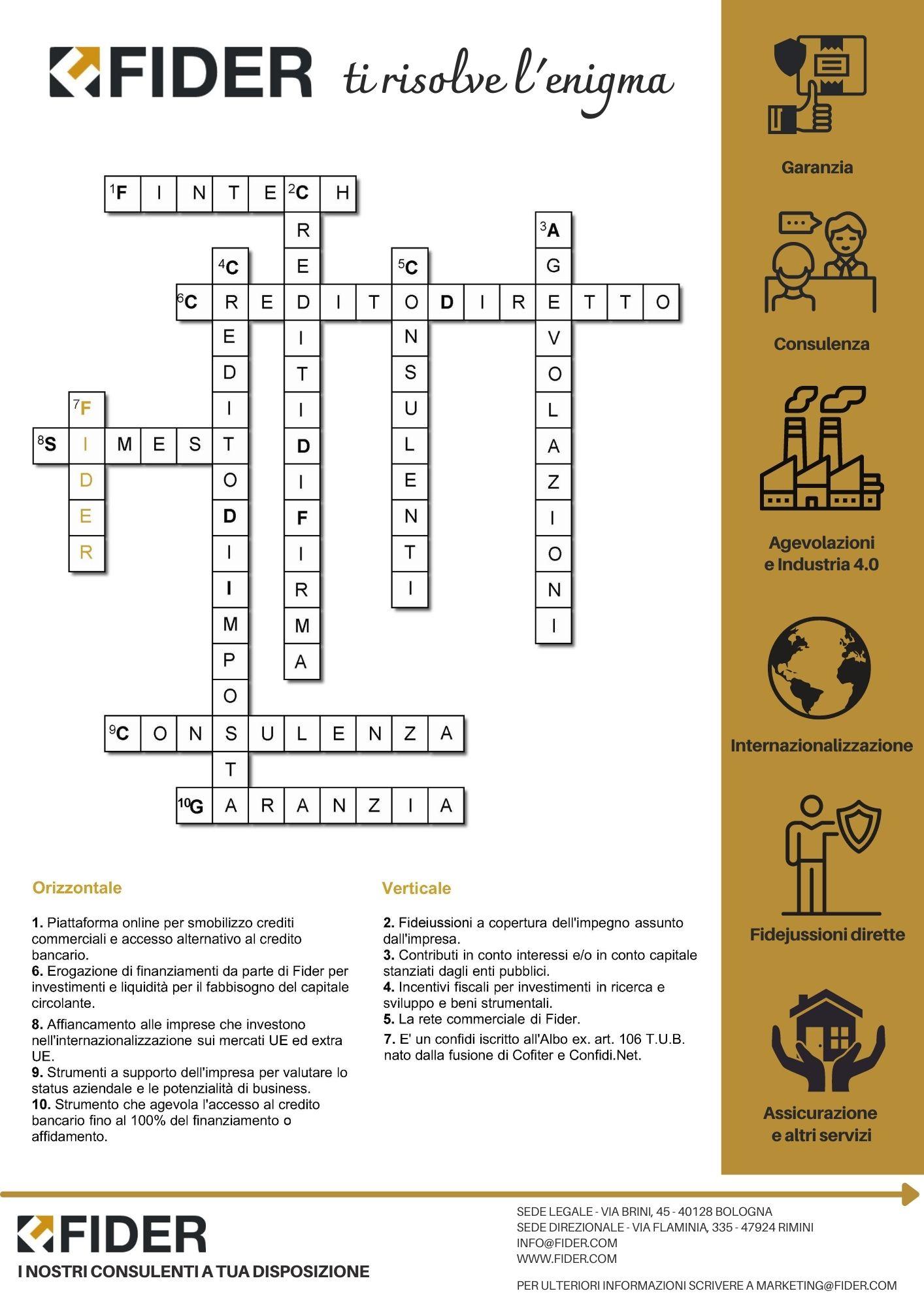 Fider ti risolve l'enigma